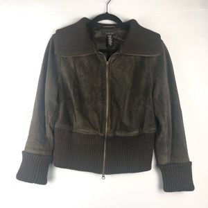 Laundry by Shelli Segal Brown Suede Jacket, L.